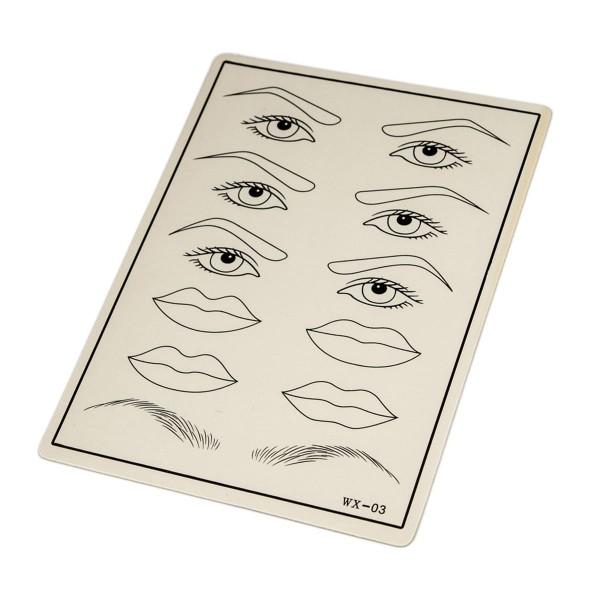Übungshaut für Permanent Make-Up - Augen, Brauen, Lippen