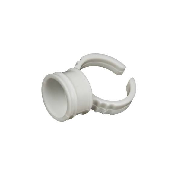 Farb-Finger-Ring - 14 mm - Weiß - 100 Stck.