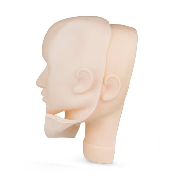 Silikonmaske / Übungshaut für 3D Kopf